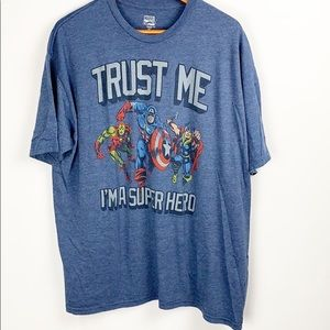 Marvel Comics Super Hero Graphic Tee Size 2XL
